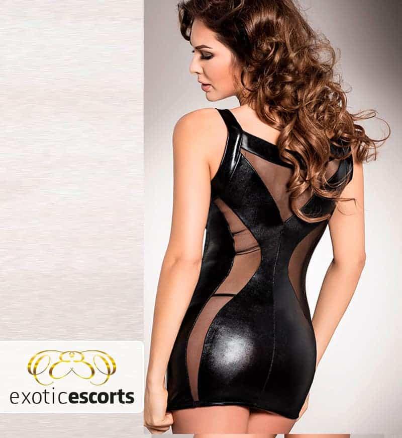 Wetlook-Kleid_mit_Schnuerung_schwarz_2---Exotic-Escorts